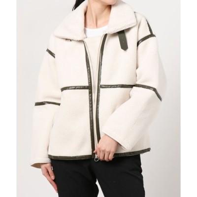 ダウン ダウンジャケット トレンド レディース アウター ハイネック ボアコート もこもこ 軽い 暖かい 防寒 ブルゾン