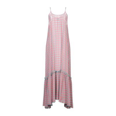 ULTRA'CHIC ロングワンピース&ドレス コーラル 38 レーヨン 51% / アセテート 49% ロングワンピース&ドレス