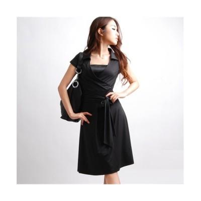 MARTHA(マーサ) キャップスリーブカシュクールワンピース (ワンピース)Dress