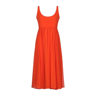 SEVENTY SERGIO TEGON 7分丈ワンピース・ドレス オレンジ 44 ポリエステル 94% / ポリウレタン 6% 7分丈ワンピース・