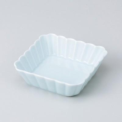 和食器 菊割青白11cm浅角皿 小鉢 ボウル カフェ 食器 陶器 おうち おしゃれ プチ ミニ 日本製