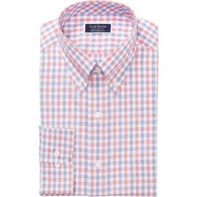 クラブルーム Club Room メンズ シャツ トップス Classic/Regular-Fit Performance Stretch Gingham Check Dress Shirt Red Navy