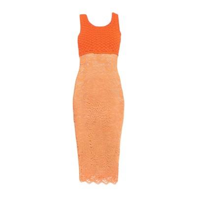 モスキーノ MOSCHINO 7分丈ワンピース・ドレス オレンジ 40 レーヨン 85% / ナイロン 15% / コットン 7分丈ワンピース・ドレス