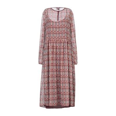 OPALINE 7分丈ワンピース・ドレス ピンク S ポリエステル 100% 7分丈ワンピース・ドレス