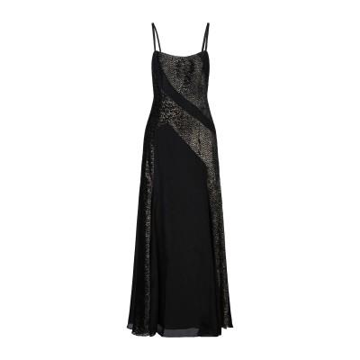 ZEUS + DIONE ロングワンピース&ドレス ブラック 36 シルク 100% ロングワンピース&ドレス
