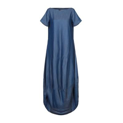 AVANTGAR DENIM by EUROPEAN CULTURE 7分丈ワンピース・ドレス ブルー XXS テンセル 100% 7分丈ワンピース