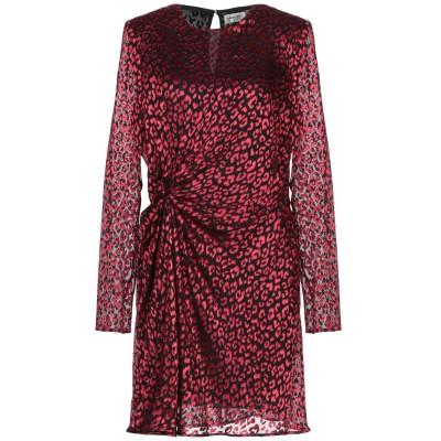 SAINT LAURENT ミニワンピース&ドレス ブラック 38 レーヨン 58% / シルク 42% ミニワンピース&ドレス