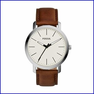 Fossil Mens Luther Quartz Stainless Steel and Leather Watch, Color:Brown (Model: BQ2309)