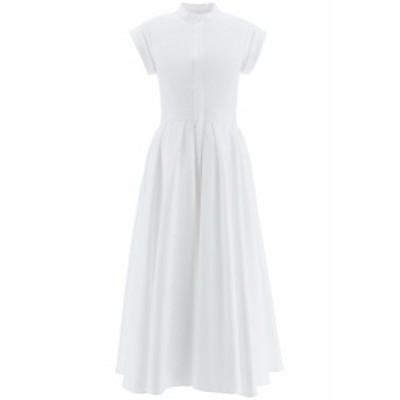 ALEXANDER MCQUEEN/アレキサンダー マックイーン ドレス OPTICAL WHITE Alexander mcqueen midi shirt dress レディース 秋冬2020 629055