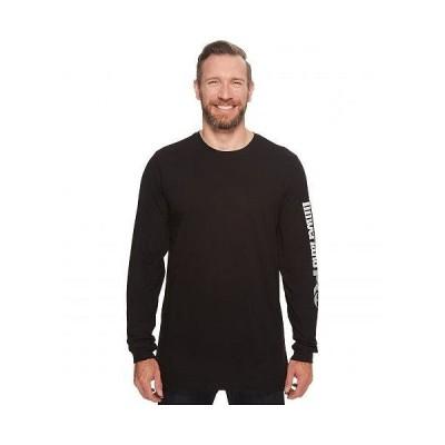Timberland PRO ティンバーランド メンズ 男性用 ファッション Tシャツ Base Plate Blended Long Sleeve T-Shirt with Logo - Tall - Jet Black
