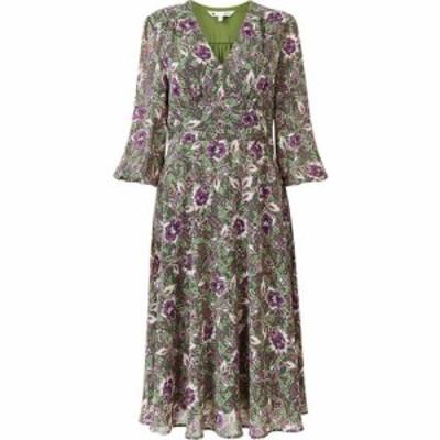 ユミ Yumi レディース ワンピース ミドル丈 ワンピース・ドレス Green Paisley Midi Dress Green