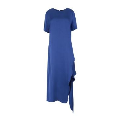 HANAMI D'OR ロングワンピース&ドレス ブライトブルー 42 レーヨン 100% ロングワンピース&ドレス