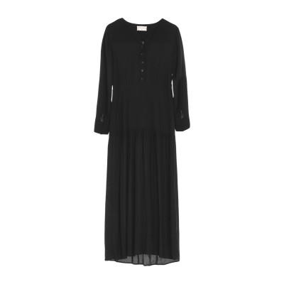 SONIA DE NISCO ロングワンピース&ドレス ブラック 38 レーヨン 100% ロングワンピース&ドレス