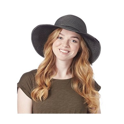 RainierSun Womens Pattaya Hat, Black/Sand, One Size