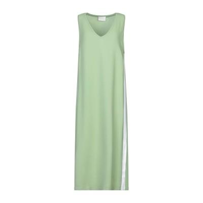 ゴータ GOTHA 7分丈ワンピース・ドレス ライトグリーン 40 レーヨン 96% / ポリウレタン 4% 7分丈ワンピース・ドレス