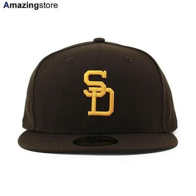 ニューエラ 59FIFTY サンディエゴ パドレス 【MLB 1969-71 COOPERSTOWN GAME FITTED CAP/BROWN-GOLD】 NEW ERA SAN DIEGO PADRES