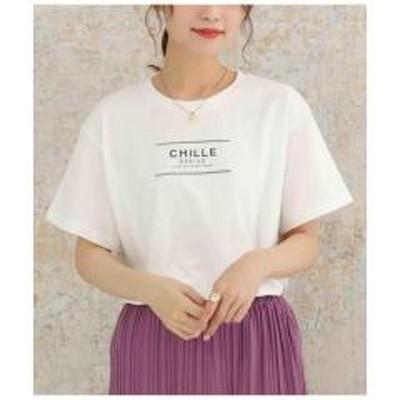 ANAP(アナップ)CHILLEテキストプリントTシャツ【お取り寄せ商品】