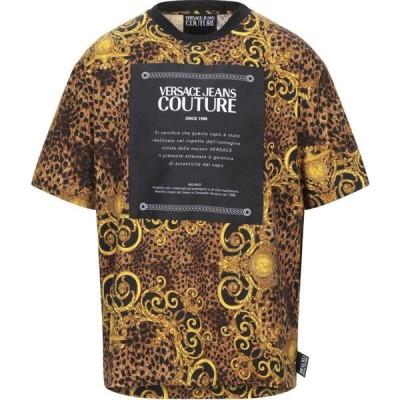 ヴェルサーチ VERSACE JEANS COUTURE メンズ Tシャツ トップス t-shirt Black