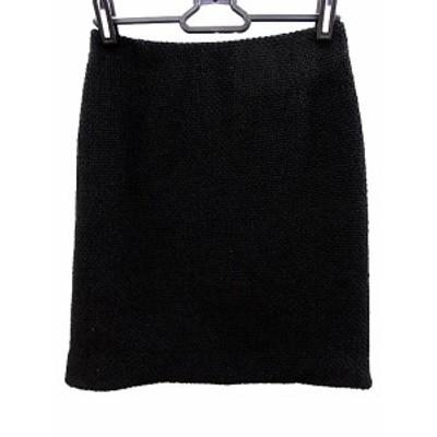 【中古】ビアッジョブルー Viaggio Blu スカート ひざ丈 台形 0 黒 ブラック /AAO31 レディース