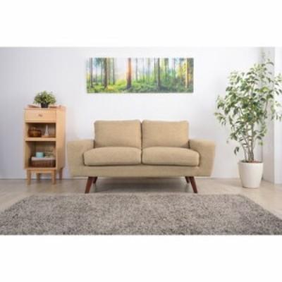 ソファー ソファ 2人掛け 長椅子 テレワーク 在宅 チェア 一人暮らし ベージュ 約 幅150 奥行81 高さ80 座面高45