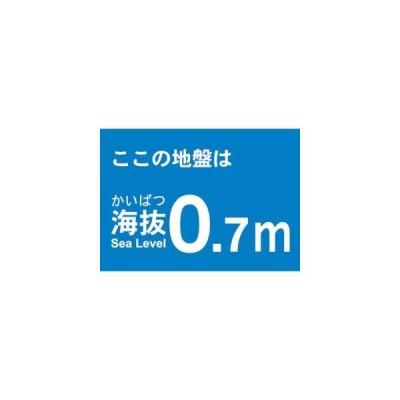 【メール便選択可】海抜ステッカー 0.7m (2枚入) TKBS-07