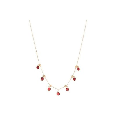 "Alex and Ani 18"""" Crystal Infusion Scarlet Mirage Necklace レディース ネックレス Rose Gold/Red"