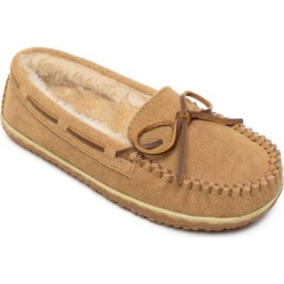 ミネトンカ Minnetonka レディース ローファー・オックスフォード シューズ・靴 Tilia Faux-Fur Moccasins Cinnamon