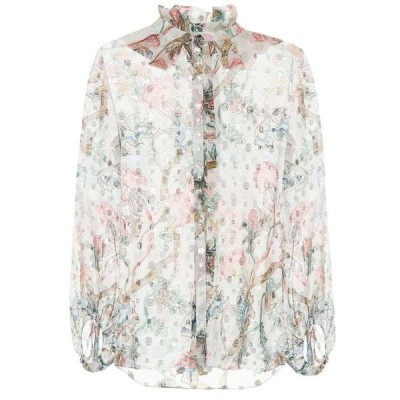 クロエ Chloe レディース ブラウス・シャツ トップス silk fil coupe shirt Multi White
