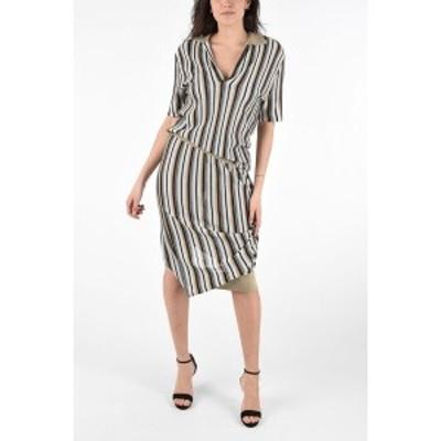 BOTTEGA VENETA/ボッテガ ヴェネタ Brown レディース Asymmetrical Striped Jaquard Dress dk