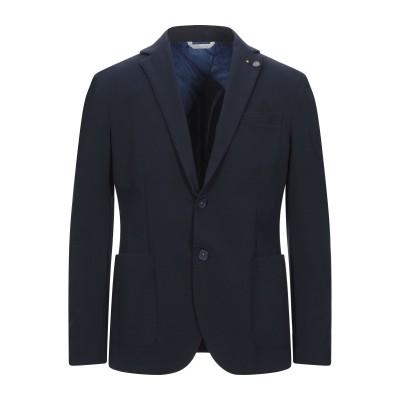 ALESSANDRO GILLES テーラードジャケット ダークブルー 54 コットン 65% / ナイロン 30% / ポリウレタン 5% テーラ