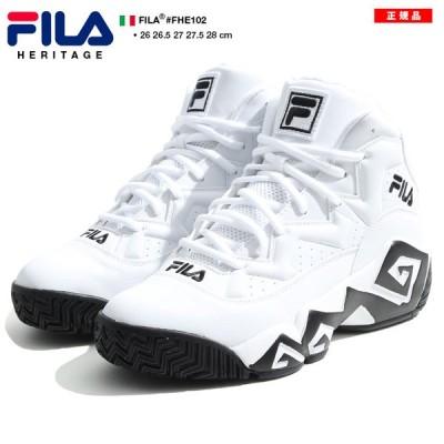 フィラ FILA スニーカー ハイカット 靴 シューズ スポーツ ファッション かっこいい おしゃれ マッシュバーン NBA 名作 MB ハイカット 黒 スウェード ギフト