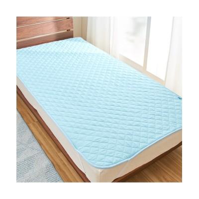 【日本製】涼感加工の綿100%敷きパッド(抗菌防臭・防ダニわた入り) 敷きパッド・敷パッド, ベッドパッド, Bed pats(ニッセン、nissen)
