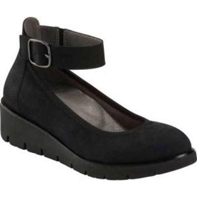 カルソーアースシューズ Earth レディース シューズ・靴 ウェッジソール Zurich Sion Ankle Cuff Wedge Black Soft Buck