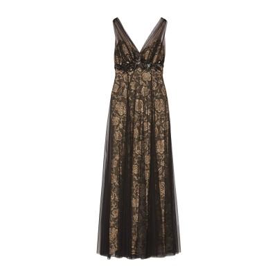 MIKAEL AGHAL ロングワンピース&ドレス ブラック 0 ポリエステル 100% ロングワンピース&ドレス