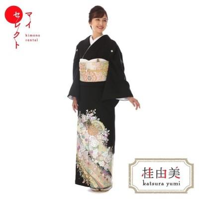 黒留袖 レンタル mito-560 桂由美 花物語 エメラルド