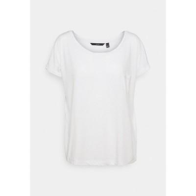 ヴェロモーダ Tシャツ レディース トップス VMLUA TEE - Print T-shirt - snow white