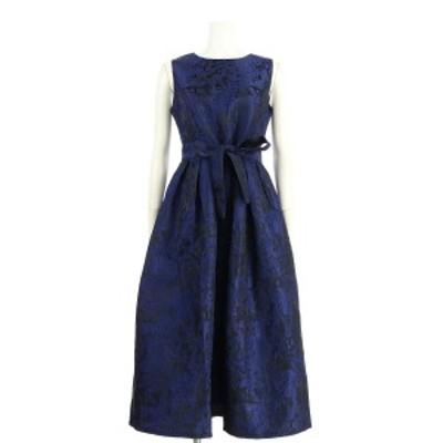 ノーブランド ドレス サイズML M レディース 新品同様 ネイビー系 カクテルドレス 表示なし【中古】20200508