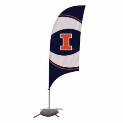 Victory Corps. ビクトリー コープス スポーツ用品  Illinois Fighting Illini 7.5 Swirl Razor Feather Flag with Base