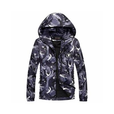 中綿コート メンズ 迷彩柄 英字 刺繍 ミリタリー 冬服 ミリタリージャケット