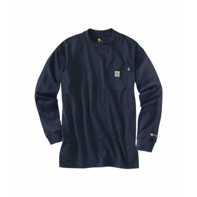 カーハート シャツ トップス メンズ Big & Tall Flame-Resistant Force Cotton Long Sleeve T-Shirt Dark Navy