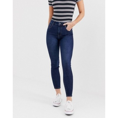ベルシュカ レディース デニムパンツ ボトムス Bershka super high waisted skinny jean in navy blue