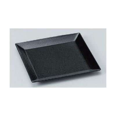 盛器 ABSスクウェアプレート黒石目(中) [19.5 x 19.5 x 1.8cm] ABS樹脂 (7-568-19) 料亭 旅館 和食器 飲食店 業務用