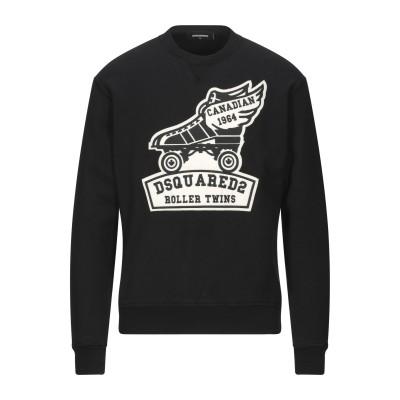 ディースクエアード DSQUARED2 スウェットシャツ ブラック S コットン 100% / ポリウレタン スウェットシャツ