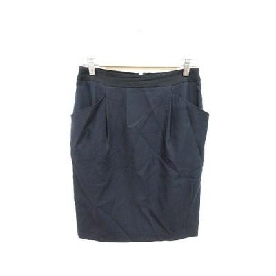 【中古】アイシービー iCB スカート タイト ひざ丈 9 紺 ネイビー /KB レディース 【ベクトル 古着】