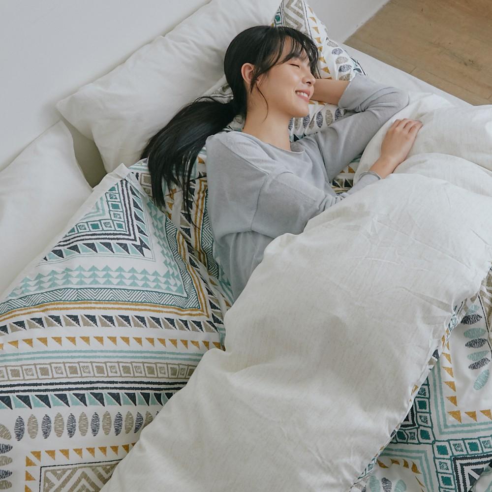 床包被套組(薄被套)-雙人 / 100% 精梳純棉 / 莎夏