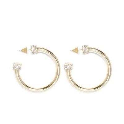 ヴィンスカムート レディース ピアス・イヤリング アクセサリー Pave Tube Hoop Earrings