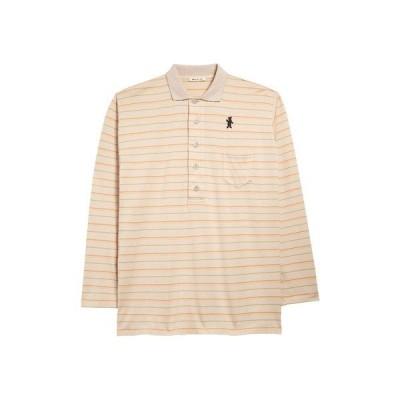 マルニ ポロシャツ トップス メンズ Dance Bunny Patch Stripe Compact Jersey Polo Beige Stripe