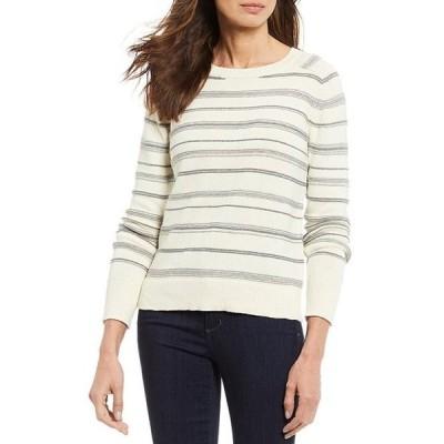 ペンドルトン レディース パーカー・スウェット アウター Textured Stripe Knit Cotton Wool Blend Long Sleeve Sweater