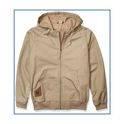 【新品】Wrangler RIGGS WORKWEAR Men's Workhorse Hooded Jacket, Dark Khaki, Large【並行輸入品】