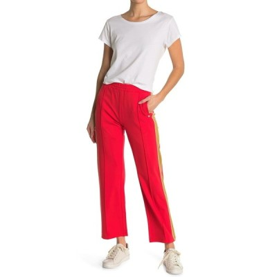 スコッチアンドソーダ レディース カジュアルパンツ ボトムス CLEAN SWEAT PANTS WITH CONTRAS 2451-MARS RED